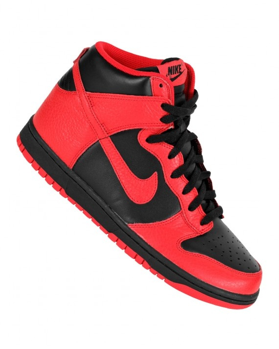 official photos c95a0 bcfa7 Nike Dunk High - Black - Action Red - SneakerNews.com  Shoes  Nike, Nike  dunks, Shoes