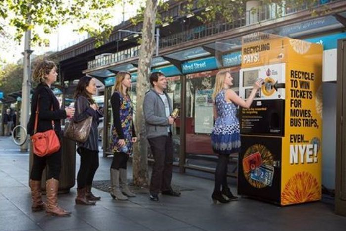 Reverse Vending Machines Take Recyclable Goods As Payment