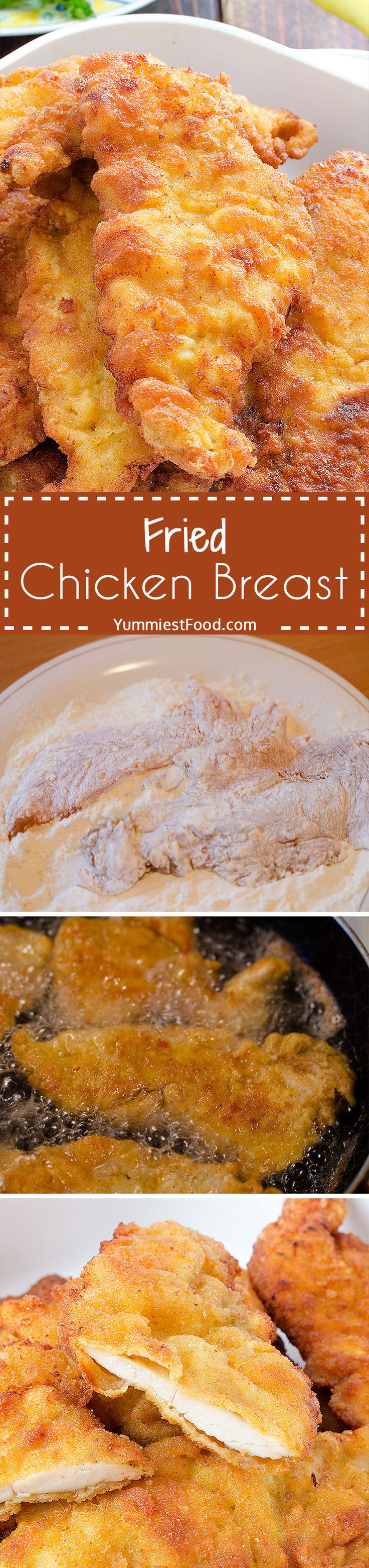 Fried Chicken Breast - Very interesting and easy way of preparing chicken breast, and very soft and delicious!