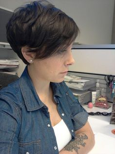 short pixie long bangs - Google Search