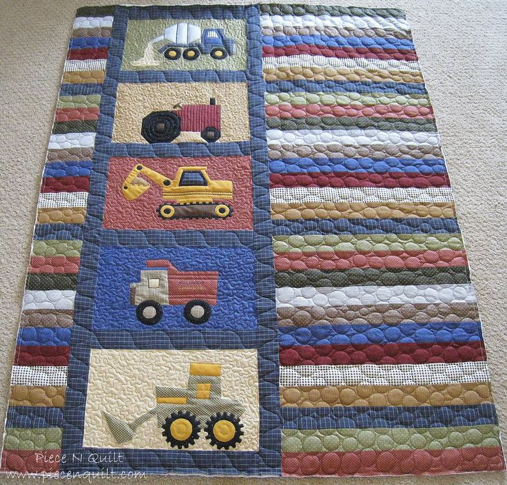 Cute toddler quilt for a little man!