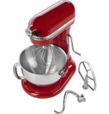 KitchenAid New Professional 5.5 QT Commercial Style Wide Steel Bowl Stand Mixer 550 HD 575 Watt Motor- Empire Red