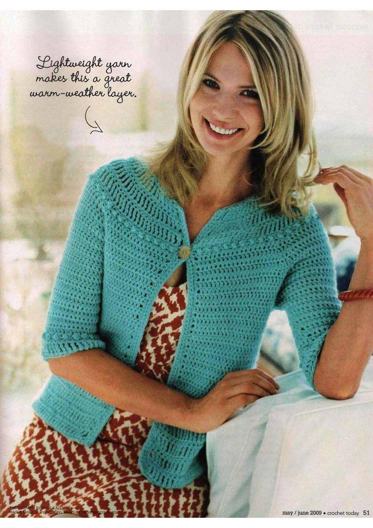 Summer breeze cardi (crochet today may june 2009)