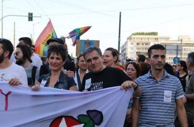 ΕΛΛΗΝΙΚΗ ΔΡΑΣΗ: Ο Τσακαλώτος στο μπλοκ του ΣΥΡΙΖΑ στο Athens Pride...