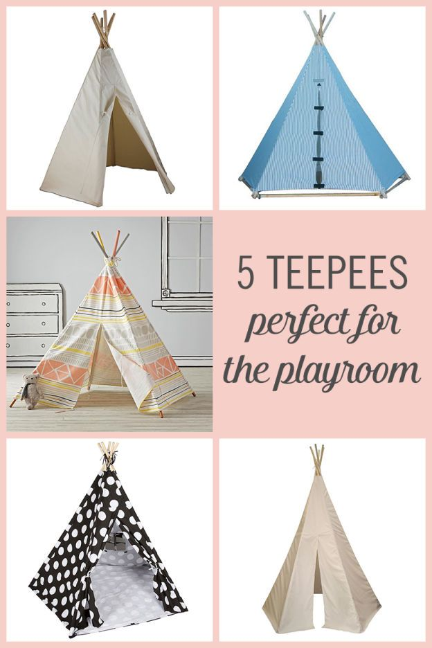 From a simple color to a bright and funky pattern, there's a teepee for every kid. Teepees make great little places for your little one to call their own.