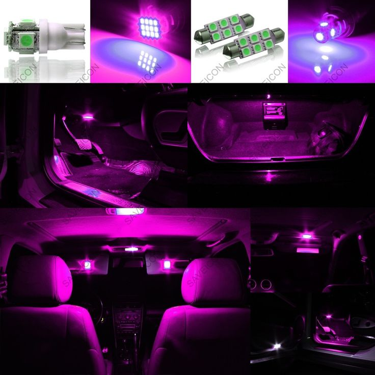 Details About 5pcs Pink Purple Led Interior Lights Package