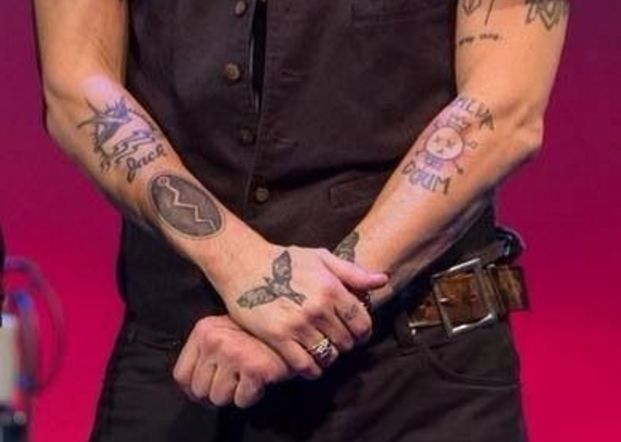 Snake Hold Special Place In Native American Culture Johnny Depp Has A Snake Tattoo On His Right Forearm Johnny Depp Tattoos Johnny Depp Tattoos With Meaning