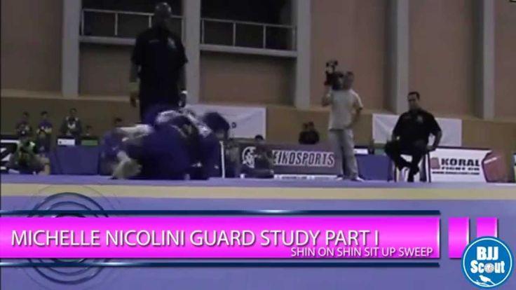 BJJ Scout: Michelle Nicolini Guard Study Part 1: Shin-on-Shin Sit up Sweep