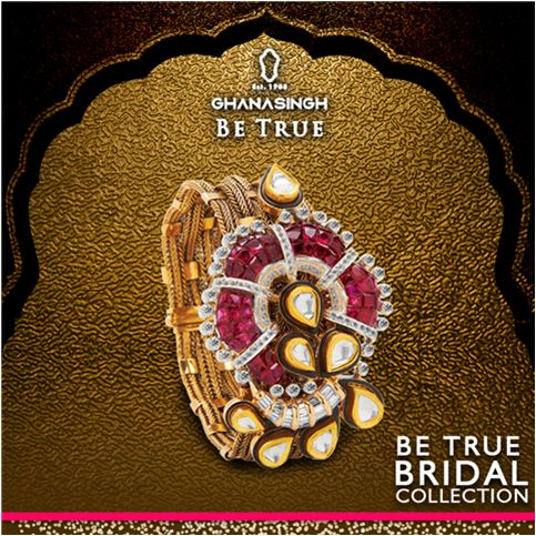 Modern designs immortalized in #gold and #diamond that complement every wardrobe to represent the new age 'trendy' #BeTrueBride of today! #BeTrue #Jewellery #BridalJewellery #Fashion #DesignerJewellery