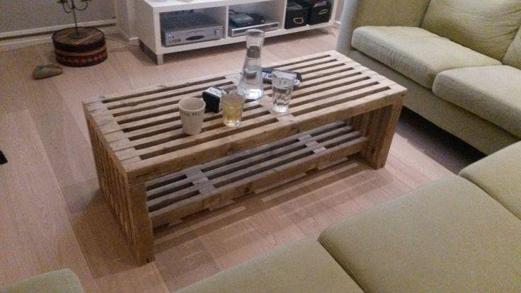 2. bord/bænk lavet af stilladstraller
