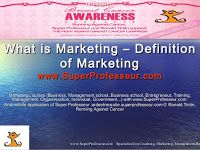 What is Marketing ? Definition of Marketing  https://youtu.be/ziAUVBRD_qA   on www.SuperProfesseur.com by Professeur Ronald Tintin  I. Marketing - Definition  II. Goal of Marketing  III. The Importance of Marketing for the Success of a Business
