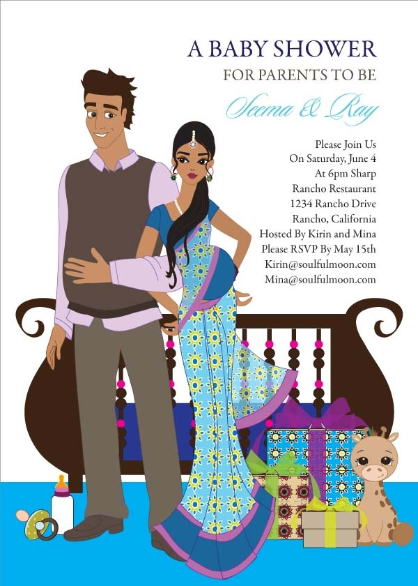 baby indian baby shower invitations by soulful moon baby shower