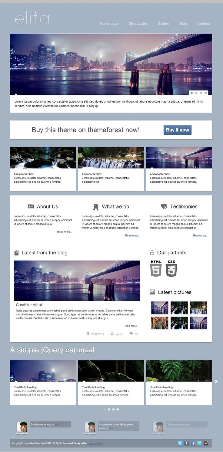 Elita - HTML Website Template