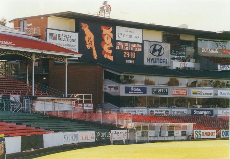 The Heroes Stand scoreboard as it was in 1996.
