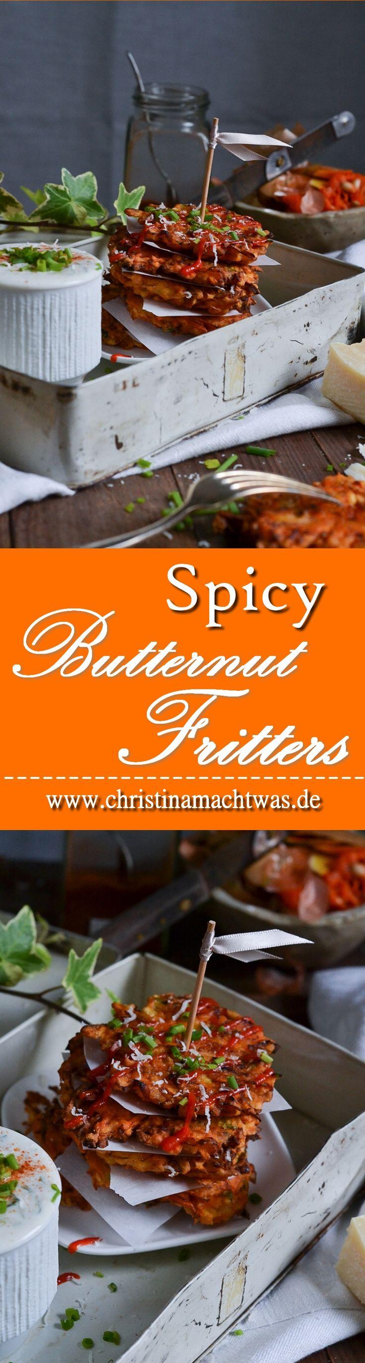Du magst Kürbis und willst ihn mal als etwas anderes als Kürbissuppe probieren? Wie wäre es mit Butternut Bratlingen/Puffern? Sie sind lecker, würzig und auf jeden Fall mal etwas anderes.--- Spicy Butternut Squash Fritters for everyone, that can´t eat Pumpkinsoup anymore.