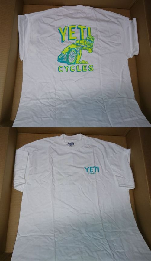 Casual T-Shirts and Tops 177851  Yeti Cycles Large White T-Shirt - Vintage  Retro Mountain Bike Brand New Nos -  BUY IT NOW ONLY   58.88 on eBay! e7f1bd475