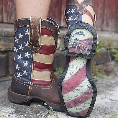 NEW! Durango Rebel Ladies Western Boots - American Flag Patriotic Boot