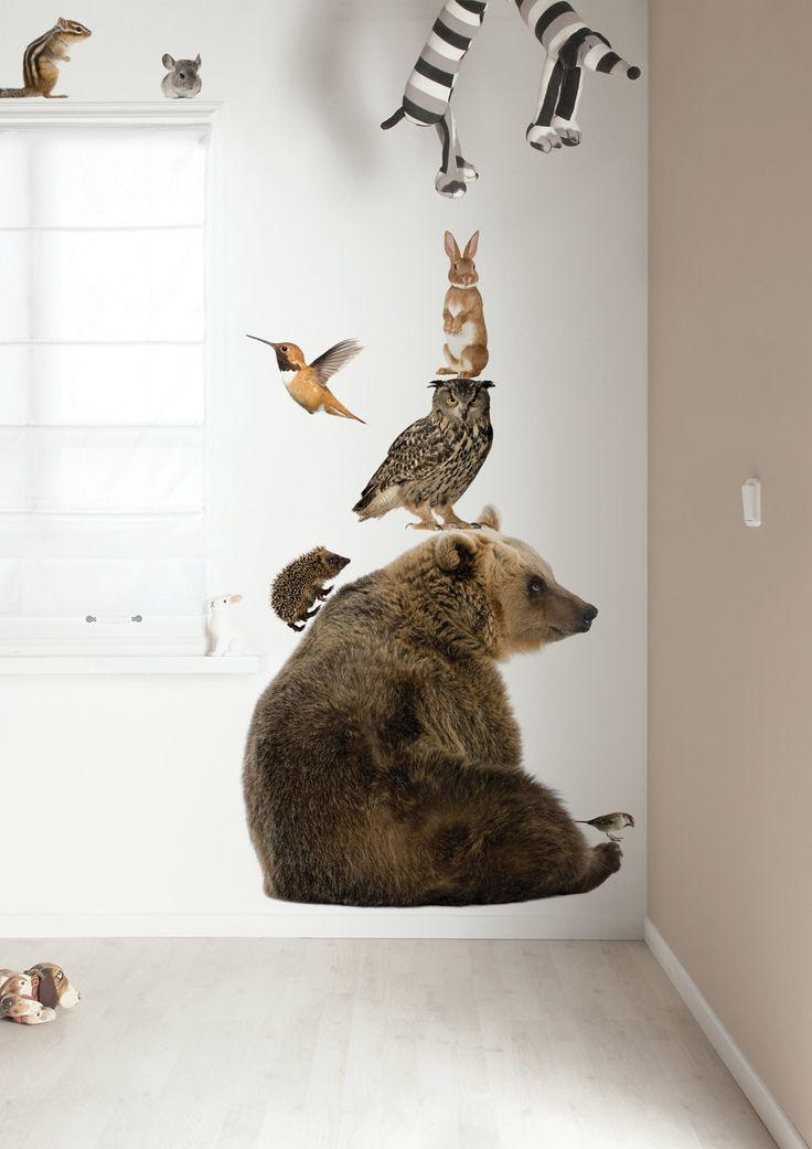 Muurstickers Forest Friends | Levensechte dieren rechtstreeks uit het bos.