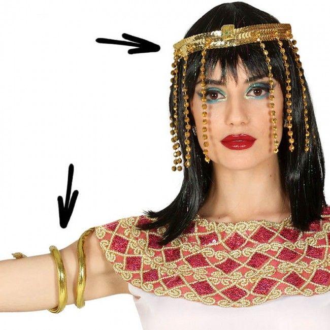 Kit accesorios disfraz Egipcia #joyasdisfraz #accesoriosdisfraz #accesoriosphotocall