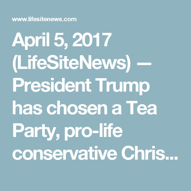 """April 5, 2017 (LifeSiteNews) — President Trump has chosen a Tea Party, pro-life  conservative Christian and former U.S. Army flight surgeon as Secretary of the Army in a move that LGBTQ activists denounced, according to news sources.  If approved by the Senate, Tennessee State Sen. Mark Green, a Clarksville Republican, would fill the spot occupied by Eric Fanning, who was appointed in 2016 by former President Obama as the first """"out"""" homosexual to hold the post.  Open homosexuality was not…"""