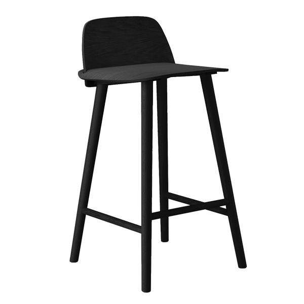 black nerd bar stool by muuto design by david geckeler