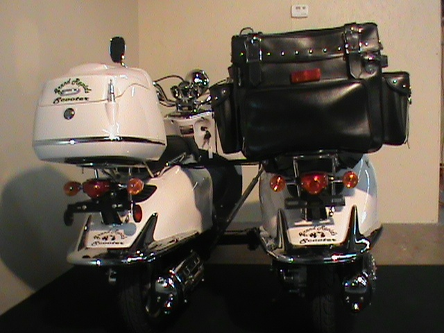 Grand Rapids Scooter Sidecar / Dually Moped Scooters Dual Drive Dual 49cc Engines  | Grand Rapids Scooter