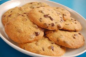 hacer galletas con chispas de chocolate