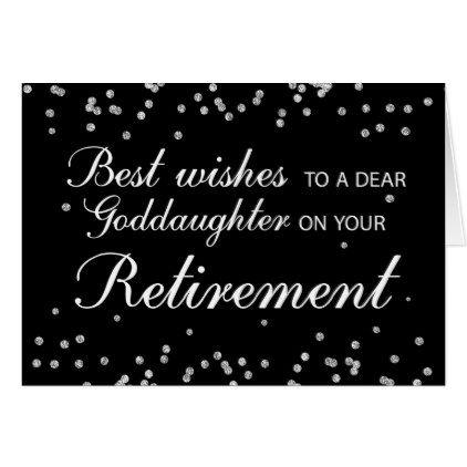Goddaughter Retirement Congratulations Black Card  $3.60  by sandrarosecreations  - custom gift idea