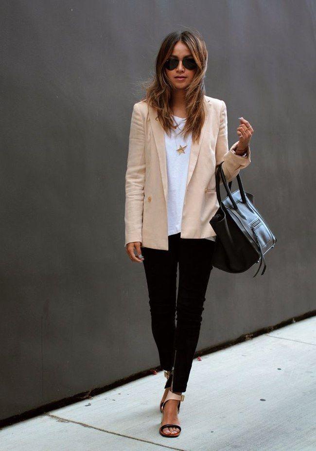 weißer blazer kombi