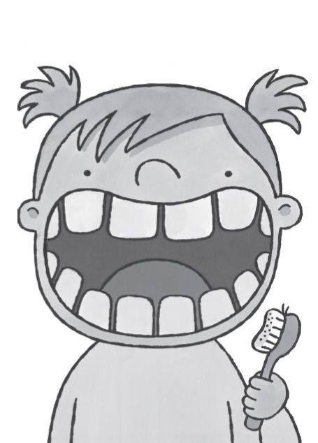 Adhv waar/niet waar vragen, tand inkleuren. 10 vragen, fout=tand inkleuren