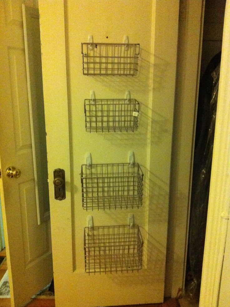 Closet Organization: Hang Wire Baskets By Command Hooks For Smaller Items  (inspiration From This