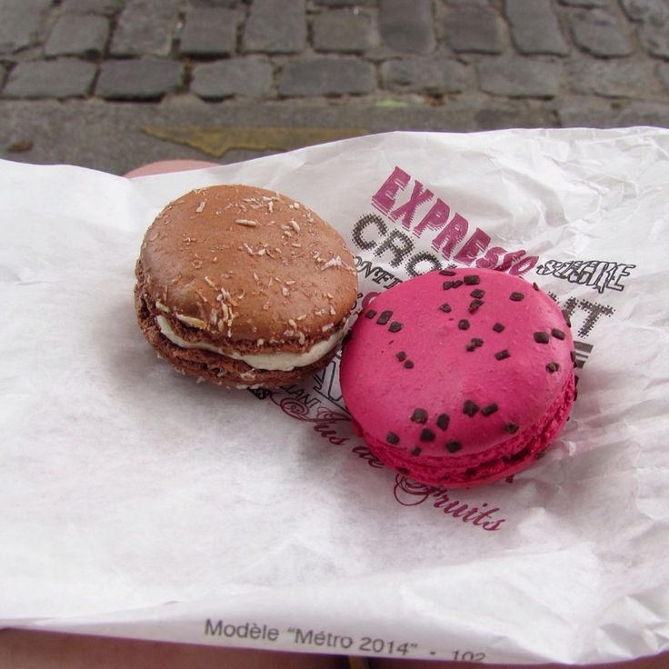 Macarons at the foot of Monmartre, Paris, France - July 2015