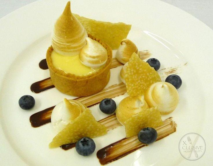 Lemon Tart, Meringue, Sesame Snap #catering #events #leicestershirefood #xclusive