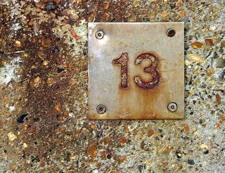 I like the number 13, and I like the way rust looks.
