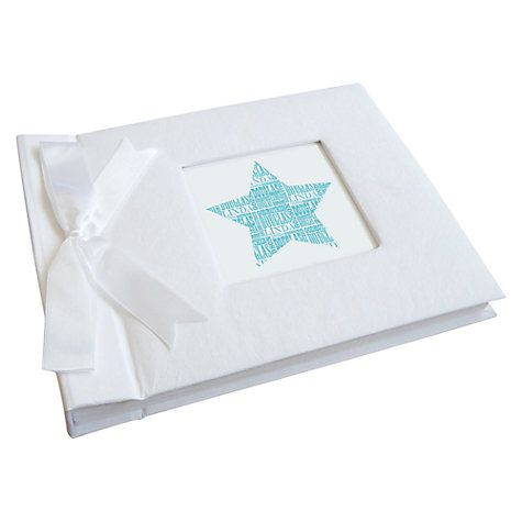 Buy Letterfest Personalised New Baby Boy Photo Album Online at johnlewis.com