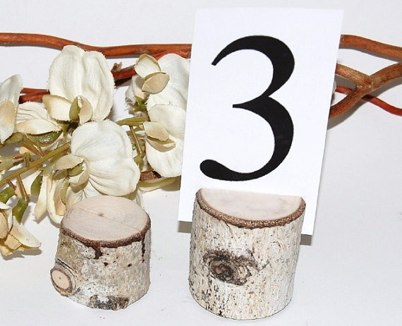 Wood Table Number Holders  Set of 10  Rustic WEDDING  by VaniTeaz, $24.00