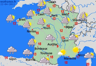 France Weather Forecast - whole of France