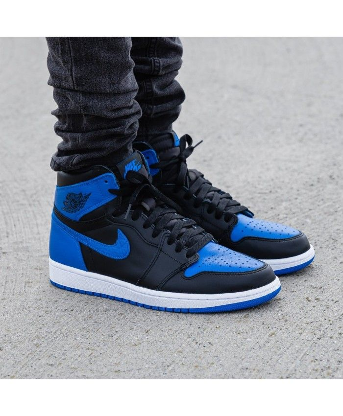 best website a208c ff380 Nike Air Jordan 1 Retro High Og Trainers In Royal City Blue Black ...