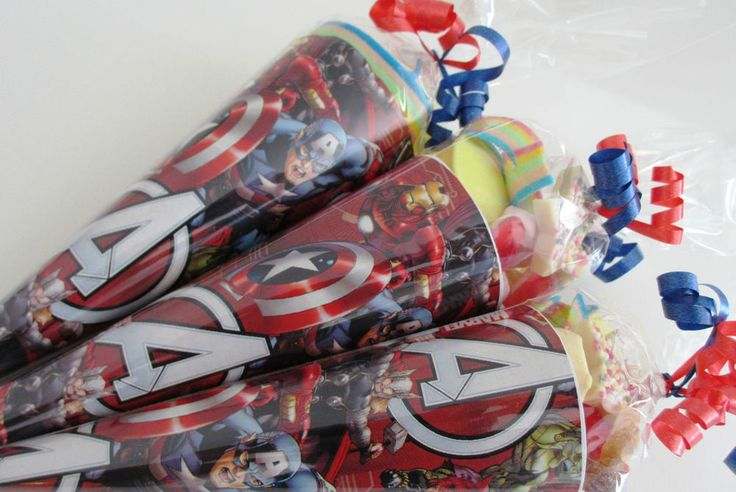 x1 Avenger/Super Hero/pre-filled sweet cone/party bag/party bag filler/favours in Home, Furniture & DIY, Celebrations & Occasions, Party Supplies   eBay