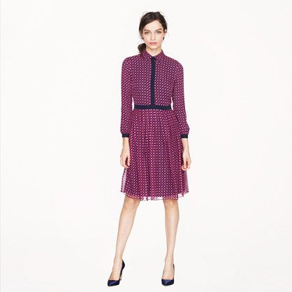 J. Crew Sale Pick: Houndstooth Chiffon Silk Shirt Dress