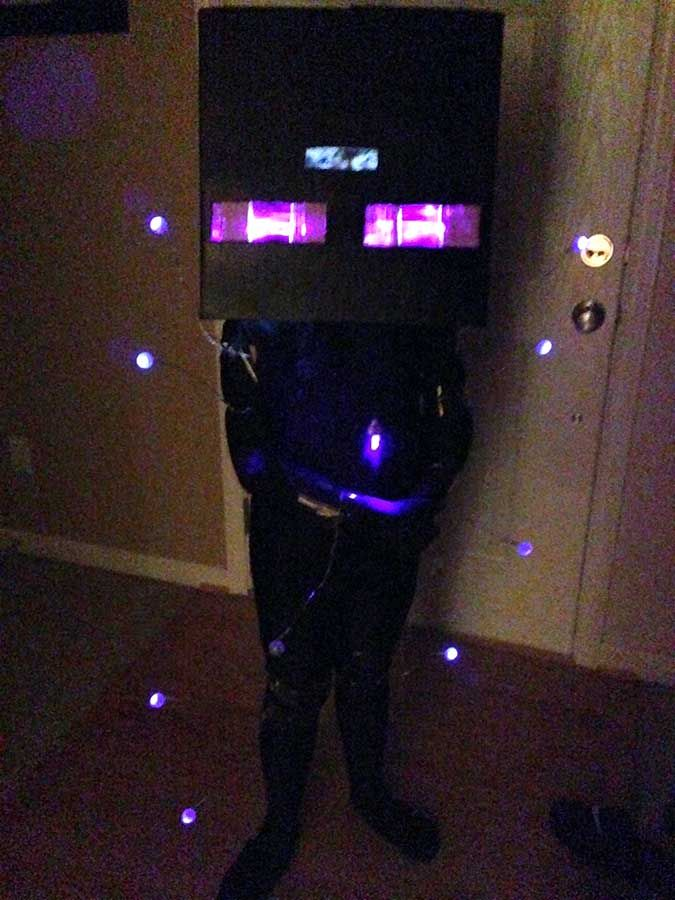 Minecraft Enderman Halloween Costume with the instructions ...