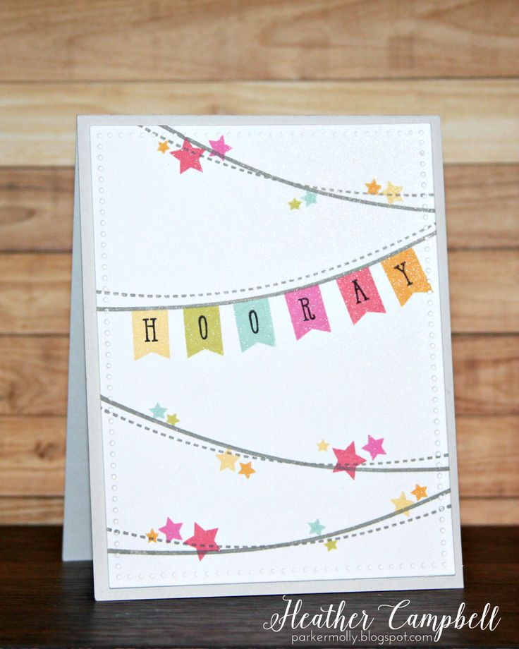 Heather Campbell for Avery Elle using Bunting stamps, Elle's Alphas stamps, and Dotted dies
