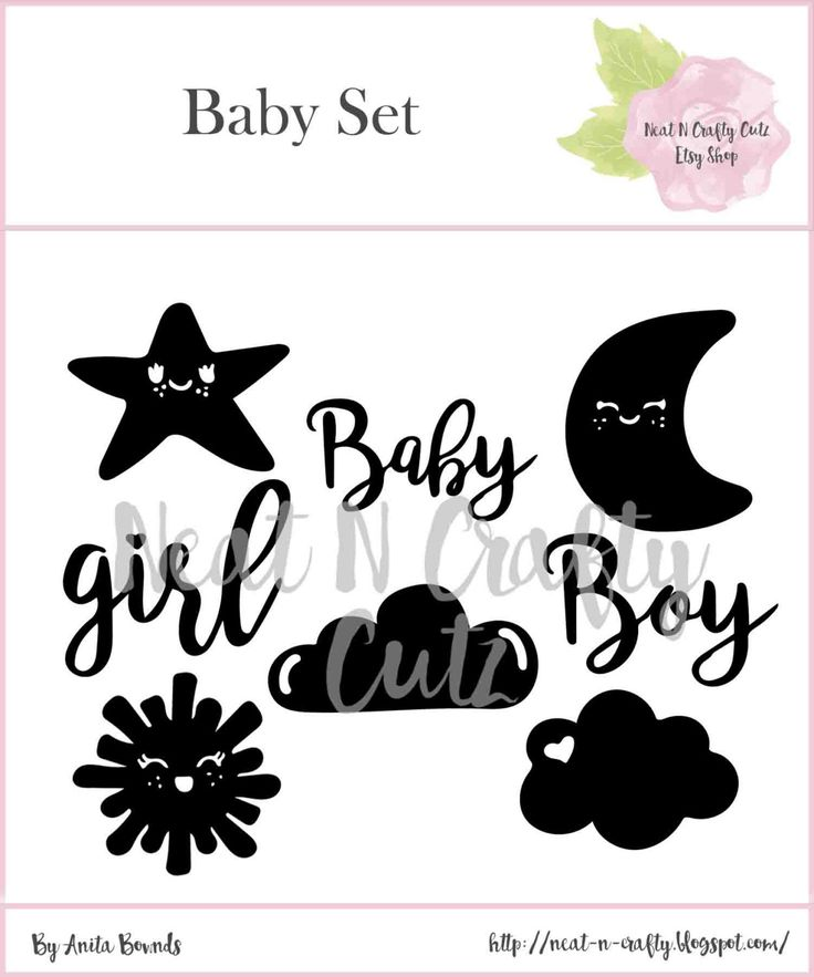 baby Set cut files. For scrapbooking and paper crafting by NeatNCraftyCutz on…