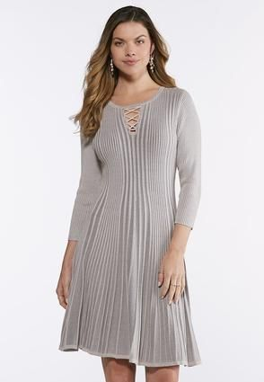 4941aa865a5 Cato Fashions Plus Size Ribbed Fit and Flare Dress  CatoFashions ...