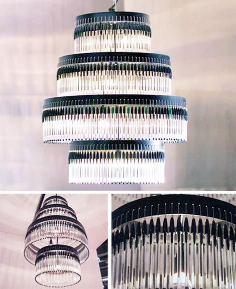 '301 chandelier' by Studio Empieza, made up of bic pens and paper-clips, 2006