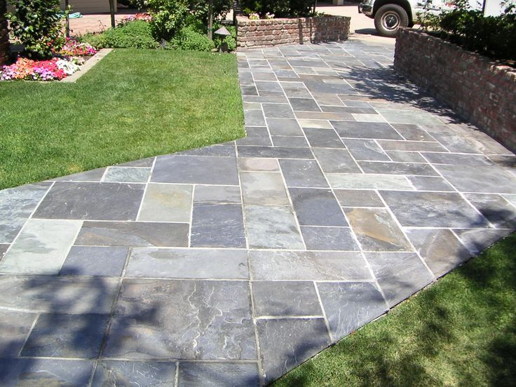 how to cut a hole in flagstone