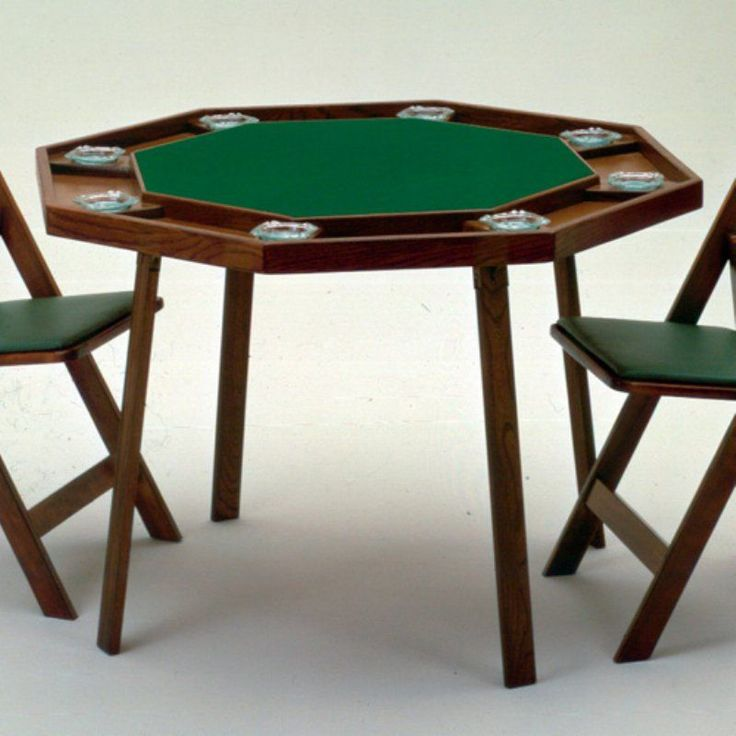 Kestell 9W Compact Oak Folding Poker Table - 42 Inch - O-9W-F NATURAL/RED FABRIC