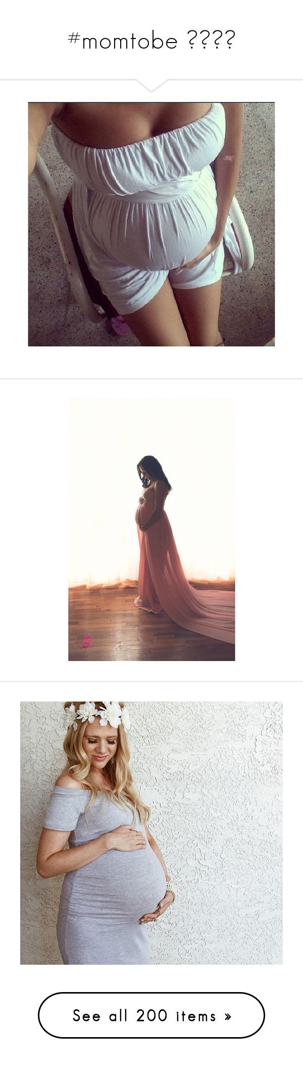 """""""#momtobe 👸🏽🤴🏽"""" by ally-xcv ❤ liked on Polyvore featuring maternity, dresses, white, women's clothing, pregnant, silver, t-shirts, tops, pregnancy and babies"""