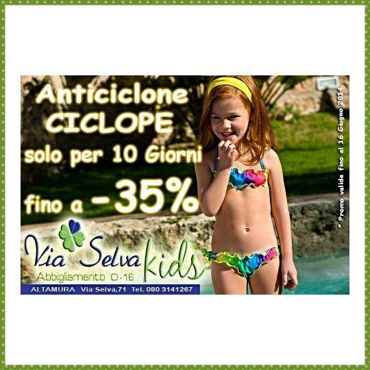 Fino al 35 % di sconto su tutta la collezione !!! Vieni da Via Selva Kids e rinfrescati con un nuovo guardaroba !!!