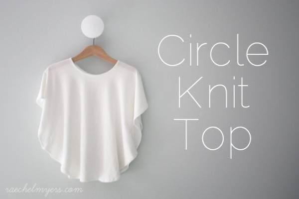 Circle knit top easy and looks great